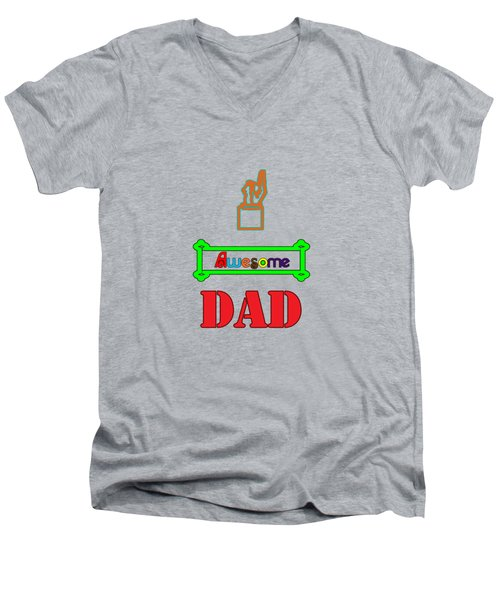 Awesome Dad Men's V-Neck T-Shirt