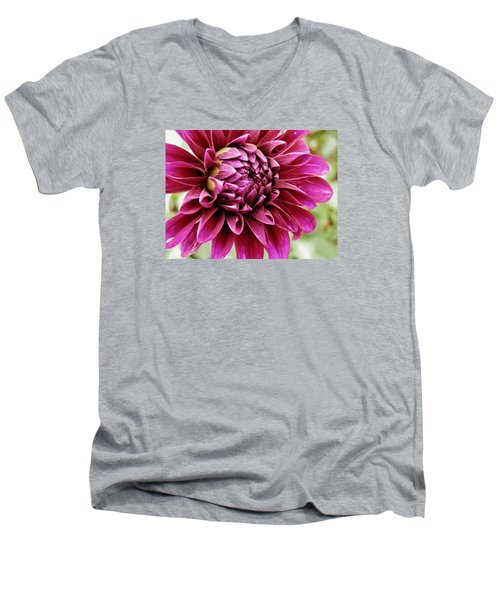 Awesome Dahlia Men's V-Neck T-Shirt by VLee Watson