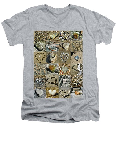 Awesome Hearts Found In Nature - Valentine S Day Men's V-Neck T-Shirt