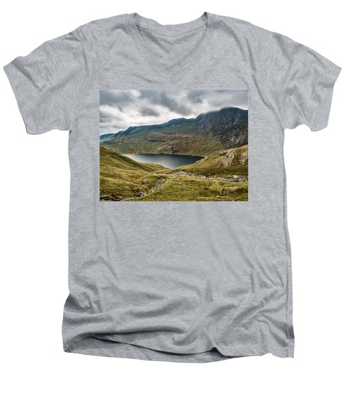 Men's V-Neck T-Shirt featuring the photograph Awesome Hike by Nick Bywater