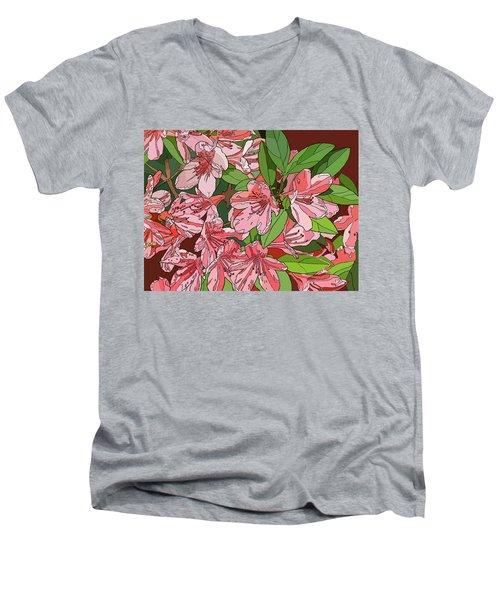 Azalea Bunch Men's V-Neck T-Shirt by Jamie Downs