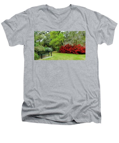 Azalea Time Men's V-Neck T-Shirt