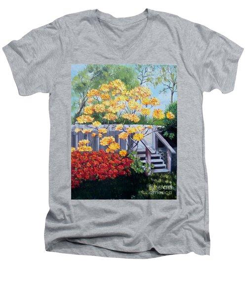 Azaleas Men's V-Neck T-Shirt
