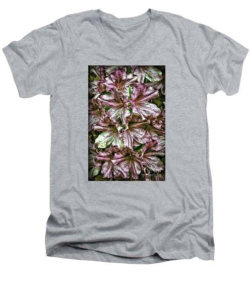 Azaleas Men's V-Neck T-Shirt by Walt Foegelle