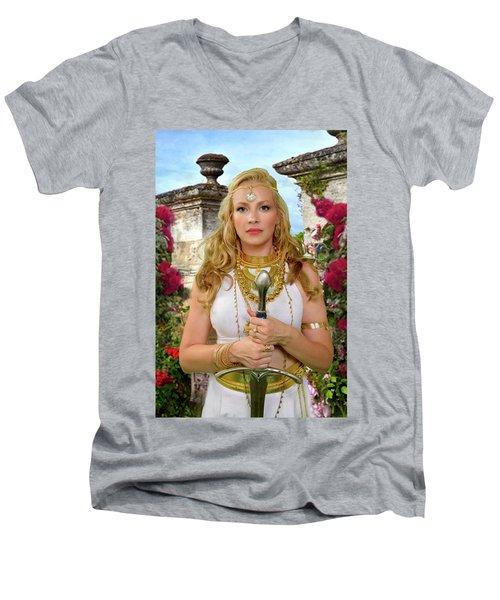 Azna Men's V-Neck T-Shirt by David Clanton