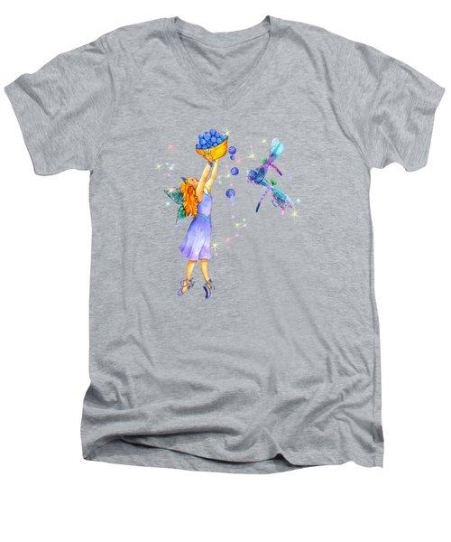 Azuria Blue Twinkle Apparel Design Men's V-Neck T-Shirt
