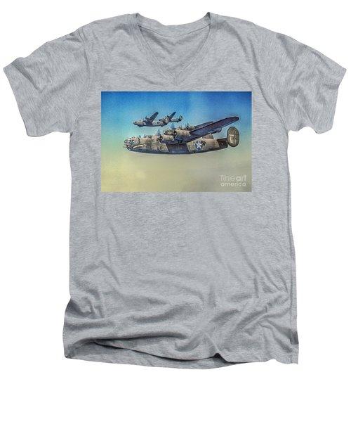 B-24 Liberator Bomber Men's V-Neck T-Shirt