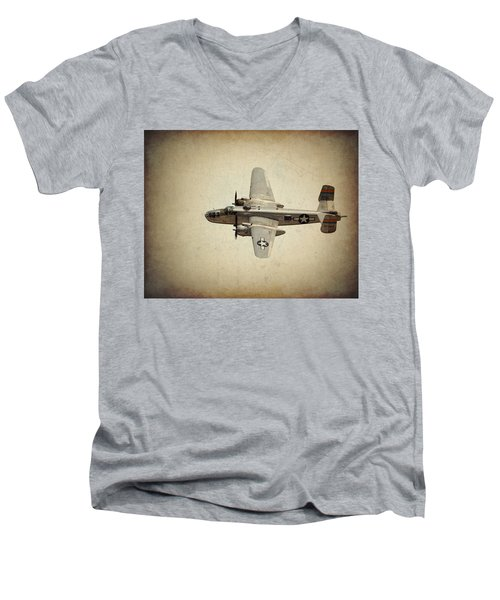 B-25j    Miss Mitchell Men's V-Neck T-Shirt