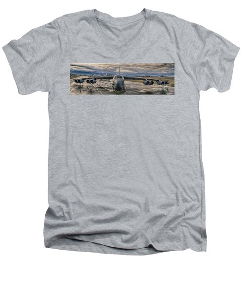 Men's V-Neck T-Shirt featuring the photograph B-52 by Jim  Hatch