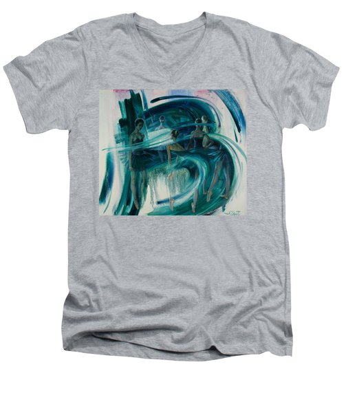 B -allet Men's V-Neck T-Shirt