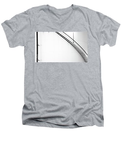 B And W Stairs Men's V-Neck T-Shirt