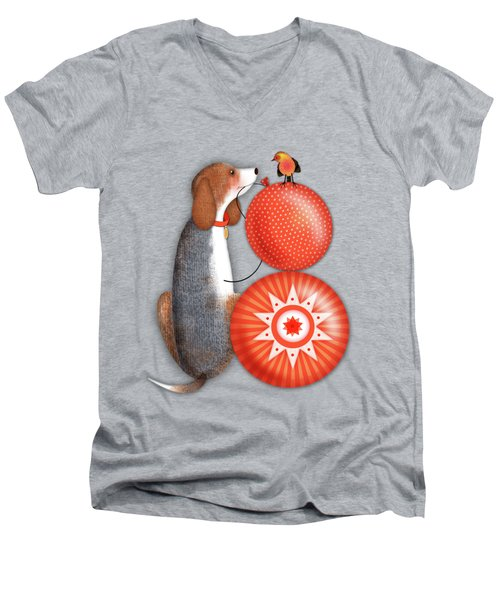 B Is For Beagle Men's V-Neck T-Shirt