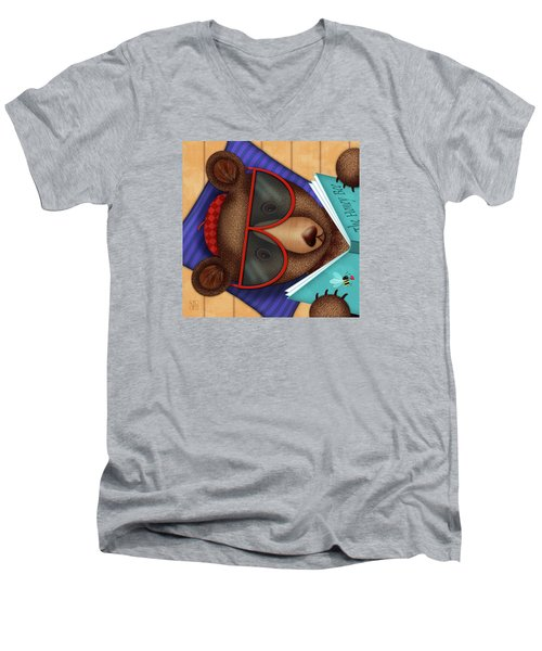 B Is For Brown Bear Men's V-Neck T-Shirt