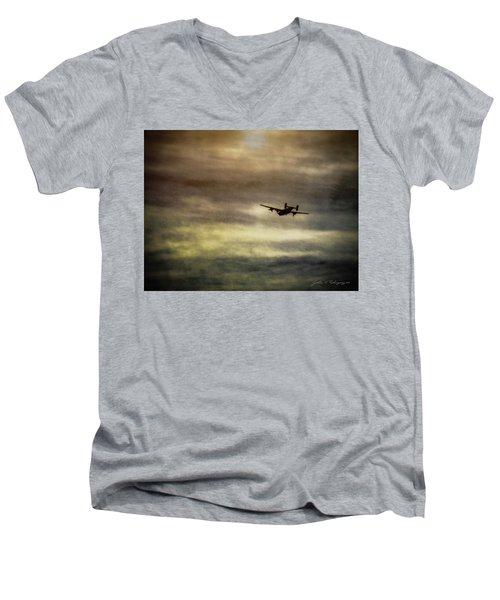 B24 In Flight Men's V-Neck T-Shirt