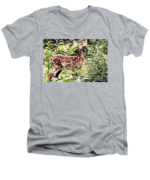 Babe In The Woods Men's V-Neck T-Shirt