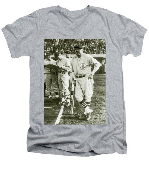 Babe Ruth All Stars Men's V-Neck T-Shirt
