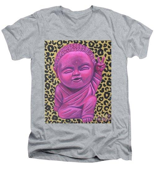 Baby Buddha 2 Men's V-Neck T-Shirt by Ashley Price