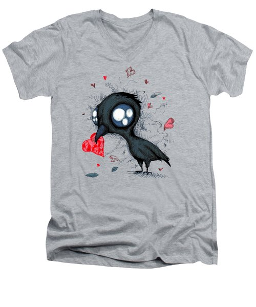 Baby Crow Men's V-Neck T-Shirt