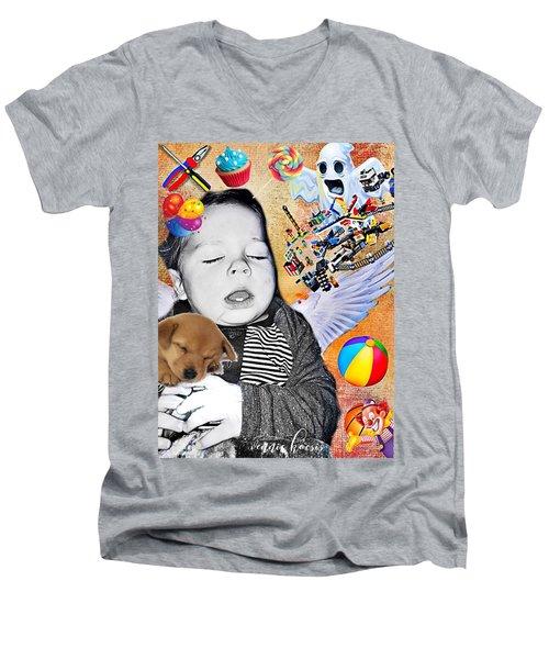 Baby Dreams Men's V-Neck T-Shirt by Vennie Kocsis