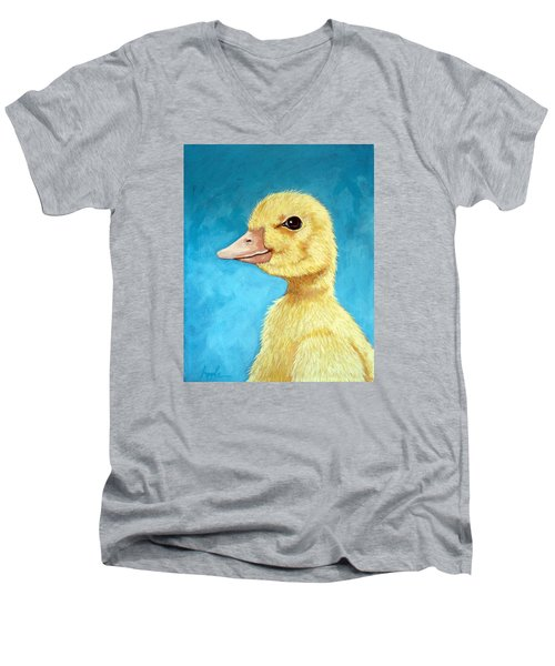 Baby Duck - Spring Duckling Men's V-Neck T-Shirt by Linda Apple