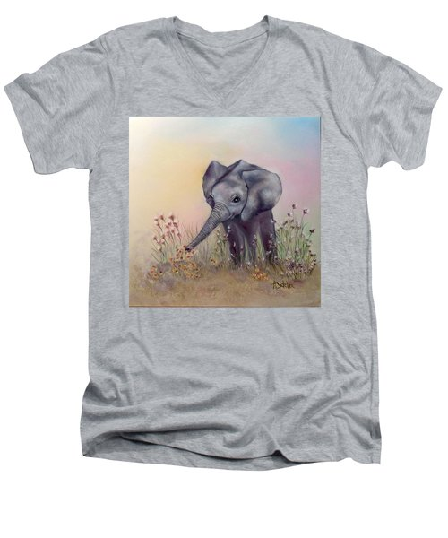 Baby Ellie  Men's V-Neck T-Shirt