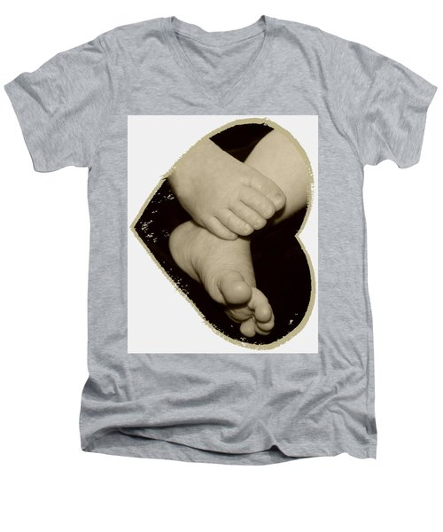Baby Feet Men's V-Neck T-Shirt