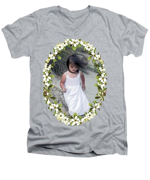 Baby Girl Men's V-Neck T-Shirt by Brian Wallace