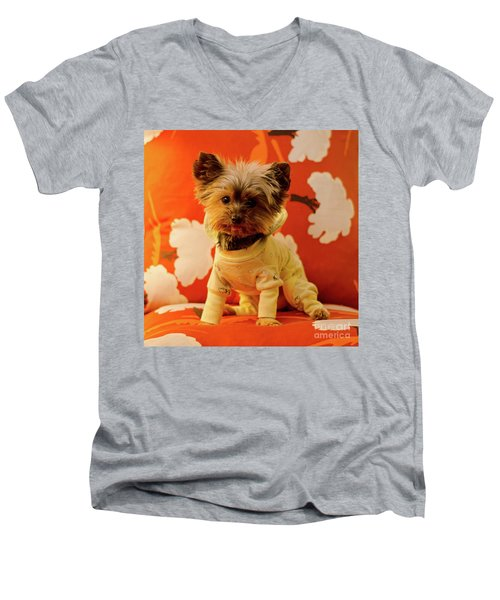Baby Mel In Pjs Men's V-Neck T-Shirt