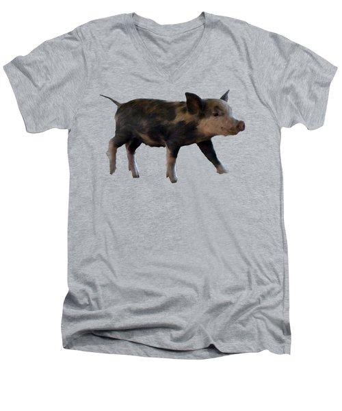 Baby Pig Art Men's V-Neck T-Shirt