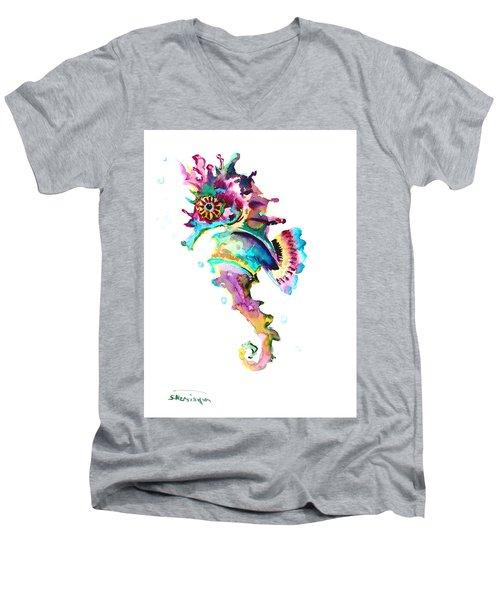 Baby Seahorse Men's V-Neck T-Shirt