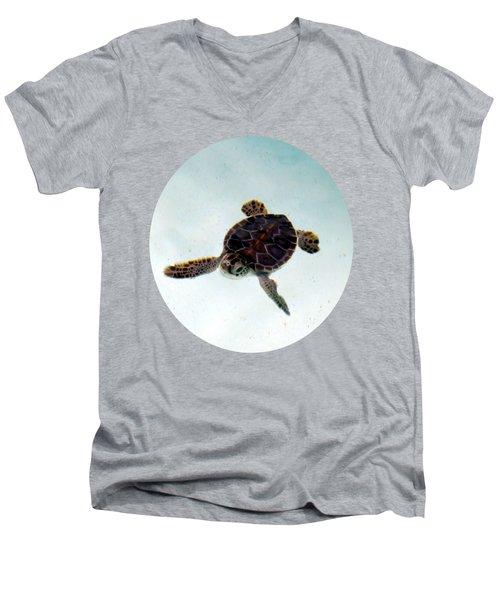 Baby Turtle Men's V-Neck T-Shirt