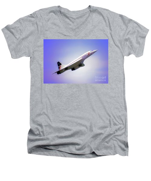Bac Concorde  Men's V-Neck T-Shirt