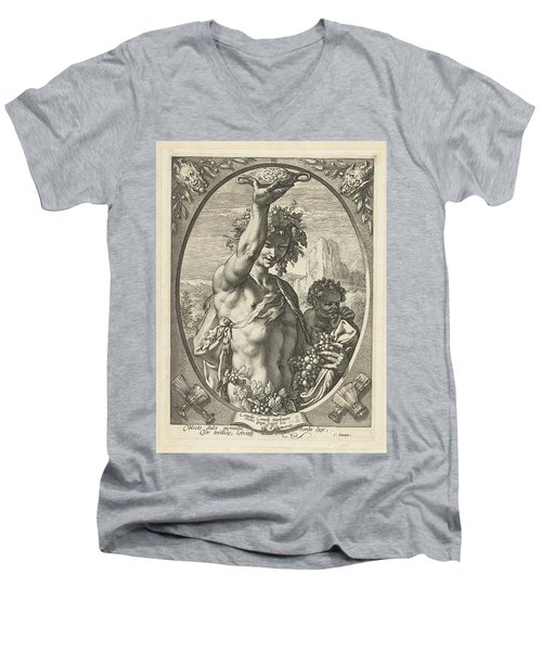 Bacchus God Of Ectasy Men's V-Neck T-Shirt by R Muirhead Art