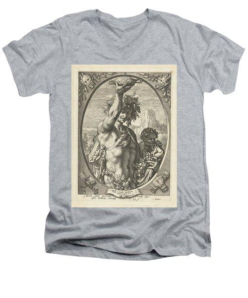 Bacchus God Of Ectasy Men's V-Neck T-Shirt