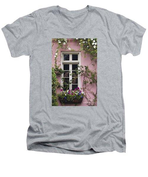 Back Alley Window Box - D001793 Men's V-Neck T-Shirt by Daniel Dempster