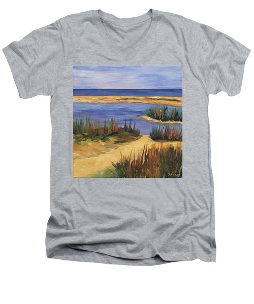 Back Bay Beach Men's V-Neck T-Shirt