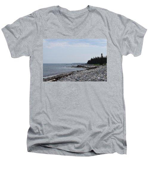 Back Beach Men's V-Neck T-Shirt