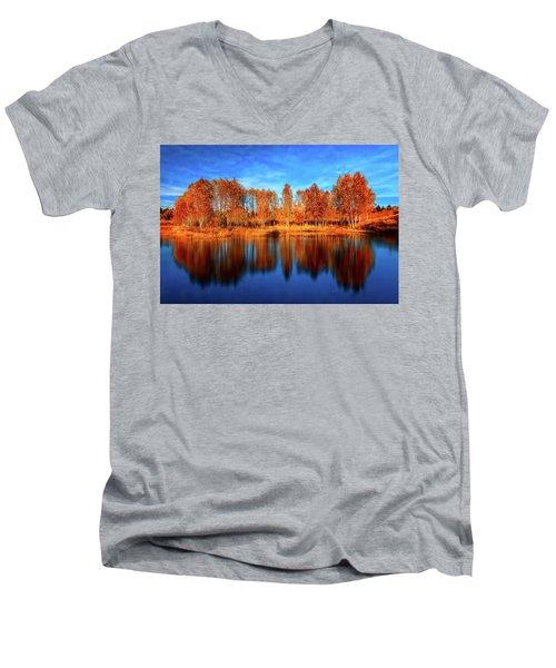 Back From The Edge Men's V-Neck T-Shirt