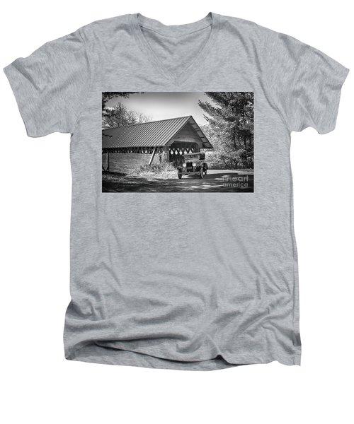 Back In The Day Men's V-Neck T-Shirt by Nicki McManus