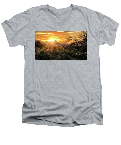Back Lit Men's V-Neck T-Shirt