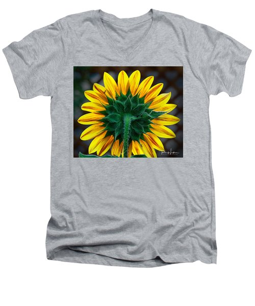 Back Of Sunflower Men's V-Neck T-Shirt