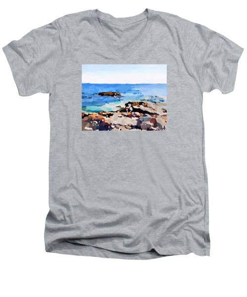 Back Shore, Gloucester, Ma Men's V-Neck T-Shirt