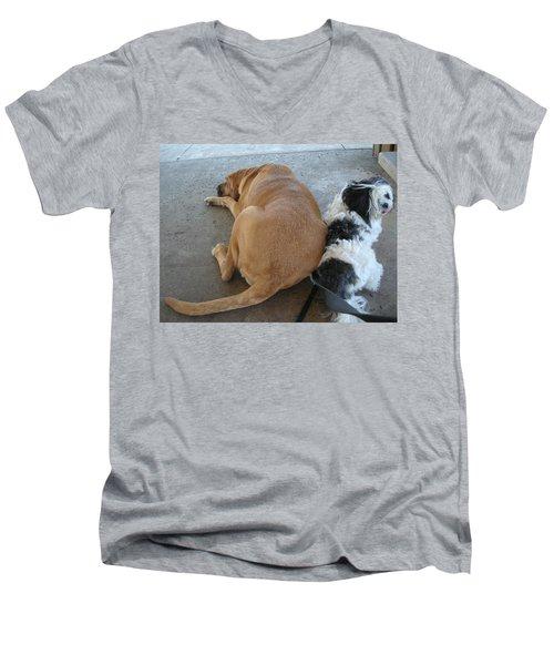 Back To Back Men's V-Neck T-Shirt