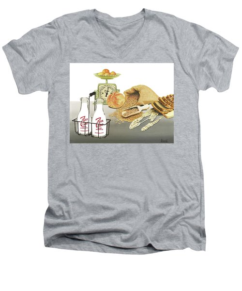 Men's V-Neck T-Shirt featuring the painting Back To Basics by Ferrel Cordle