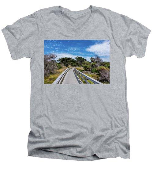 Back To The Grounds Men's V-Neck T-Shirt