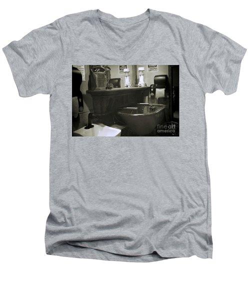 Back When Men's V-Neck T-Shirt by Lori Mellen-Pagliaro