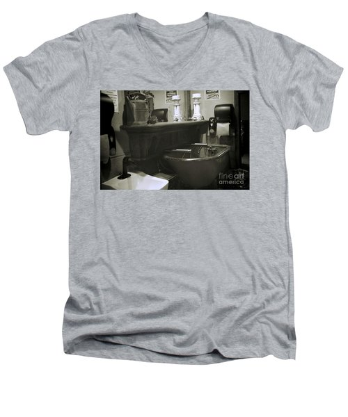 Men's V-Neck T-Shirt featuring the photograph Back When by Lori Mellen-Pagliaro