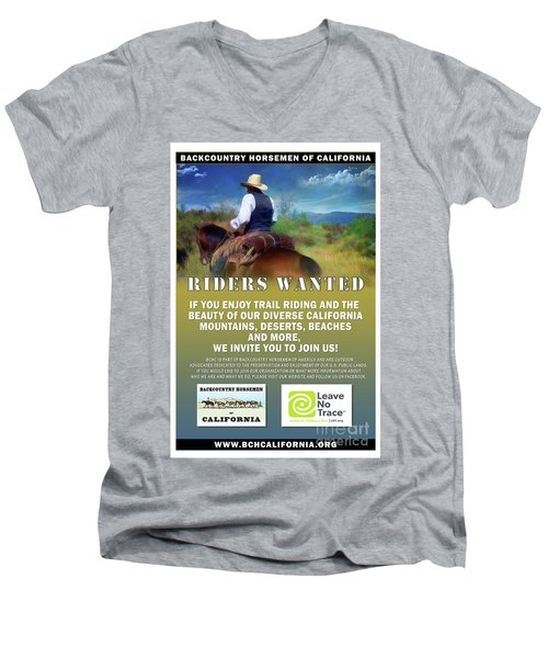 Backcountry Horsemen Join Us Poster Men's V-Neck T-Shirt