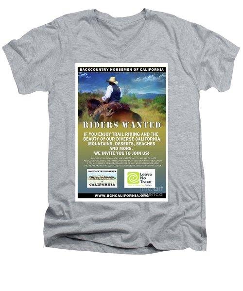 Backcountry Horsemen Join Us Poster Men's V-Neck T-Shirt