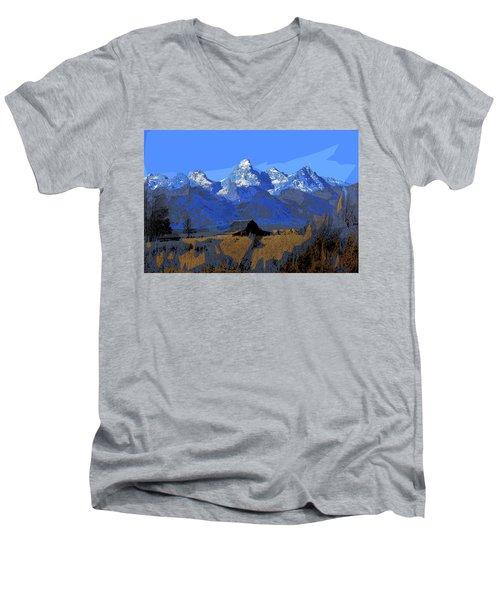 Backdrop Men's V-Neck T-Shirt